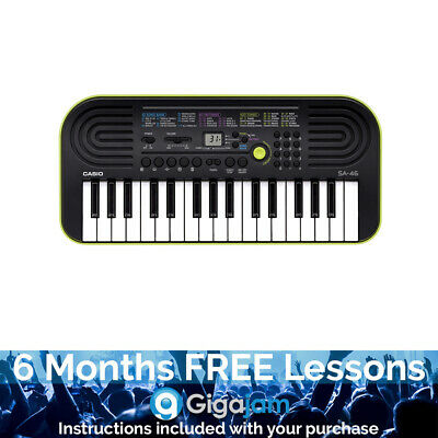 Casio SA-46 32 Note Mini Key Keyboard - 6 Months Free Online Lessons • 59.03£