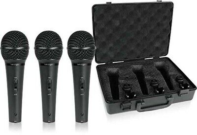 BEHRINGER Dynamic Microphone Vocal Set Of 3 ULTRAVOICE XM1800S • 77.51£