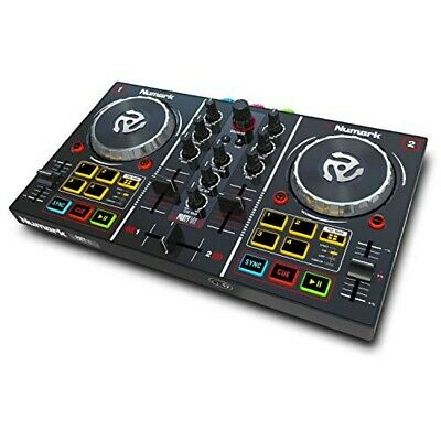 Numark 2 deck with mirror ball DJ controller Virtual DJ LE included Party Mix