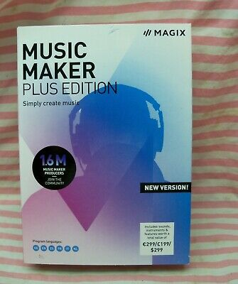 MAGIX Music Maker Plus Edition 2019 Create Produce Record Mix Music USA • 27.86£