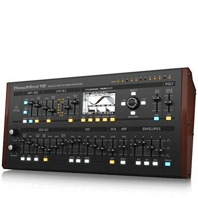 BEHRINGER DEEPMIND 12D True Analog 12-Voice Polyphonic Desktop Synthesizer • 742.30£