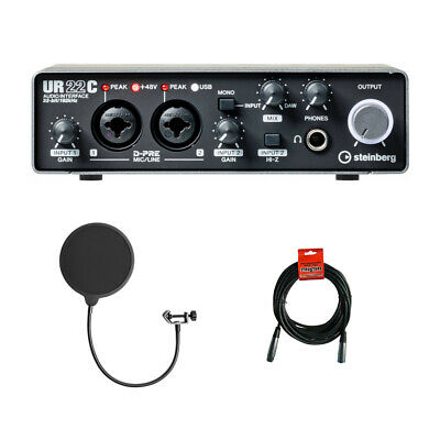 Steinberg UR22C Audio Interface W/ Pop Filter & Cable • 145.89£