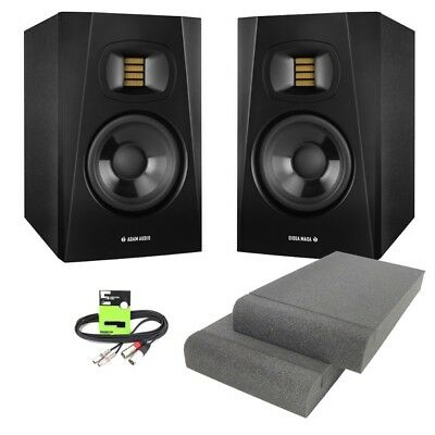 Adam Audio T5V Professional Active 5  DJ Studio Monitor Speakers + Pads + Cable • 279£