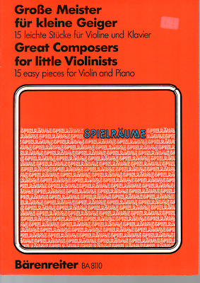 Great Composers For Little Violinists Violin & Piano Sheet Music Book Bach Haydn • 7.95£