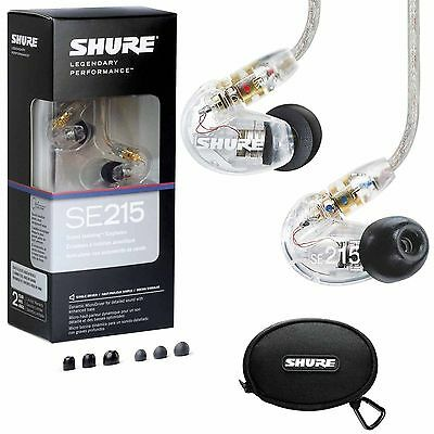Shure SE215-CL Sound-Isolating In-Ear Stereo Earphones (Clear) • 71.10£