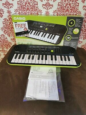 Casio SA-46 32 Mini-Keys Electronic Keyboard In Green Boxed With Instructions • 34.99£