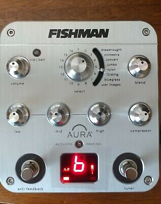 Brand New W/box Fishman Aura Spectrum DI Preamp Acoustic Pedal. TESTED.Real Pics • 289.31£