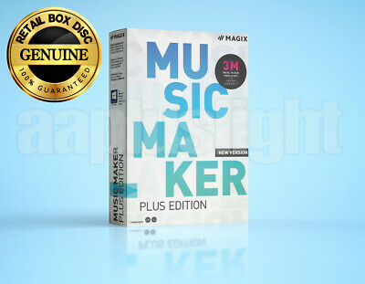 MAGIX Music Maker - Plus Edition - For Windows 7, 8, 10 - Retail Box Disc • 24.84£