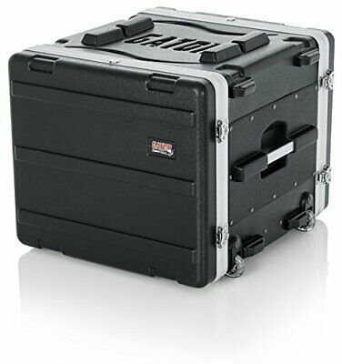 Gator Cases Lightweight Rolling 8U Rack Case With Heavy Duty Latches Retracta... • 317.28£