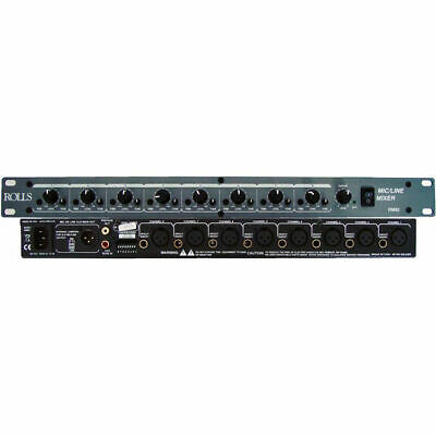 Rolls RM82 8-Channel Mic/Line Mixer • 159.52£