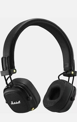 Marshall Major 3 Bluetooth Foldable Headphones - Black Major III • 77.99£