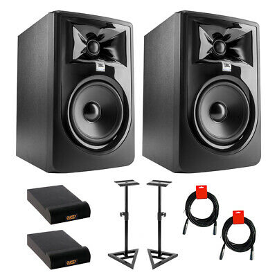 JBL 305P MkII  Studio Monitor, Pair W/ Stand (Pair), 2x Pads & 2x Cable • 240.75£