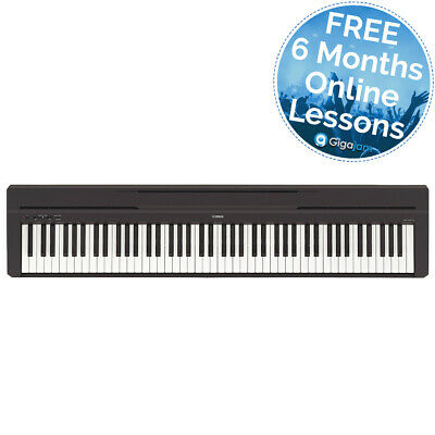 Yamaha P45 88 Key Compact Digital Piano With 6 Months Free Online Music Lessons • 449£