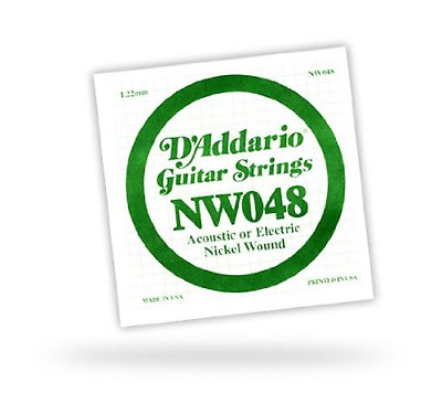 D'Addario NW048 D'Add Single Nk Wnd .048 • 4.06£