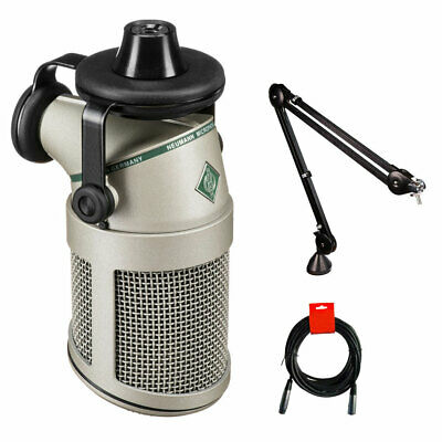 Neumann BCM 705 Dynamic Broadcast Microphone W/ Rode PSA1 Boom Arm & Cable • 501.09£