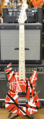 EVH Eddie Van Halen Signature Model Striped Series Red With Black Stripes, F1283 • 985.33£