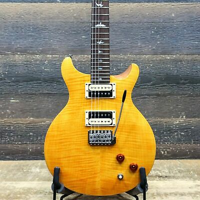 PRS SE Santana Flame Maple Veneer Top Santana Yellow El. Guitar W/Bag #C39443 • 578.15£