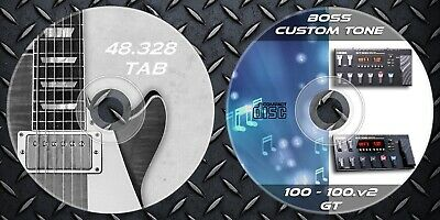 Patches BOSS GT-100 & GT 100v2. Multi Effects. & 48.328 Guitar Sheet Music Tab • 12.99£