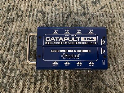 Radial Engineering Catapult TX4 | 4-Channel Cat 5 Snake For Audio/AES Routing • 78.87£