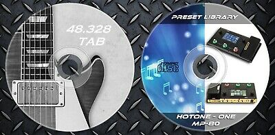 400 Patches Hotone Ampero ONE (MP-80) & 48.328 Guitar Tablatures • 9.99£