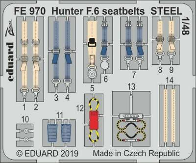 EDPFE970 - Eduard P-Etch (Zoom) 1:48 - Hunter F.6 Seatbelts STEEL • 6.25£