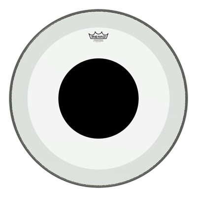 Remo Powerstroke P3 Bass Drum Heads - Clear Black Dot