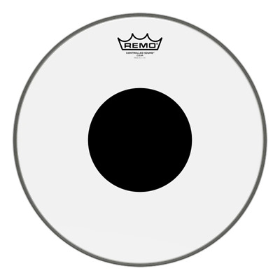 Remo Controlled Sound - Clear Black Dot (CS Dot)