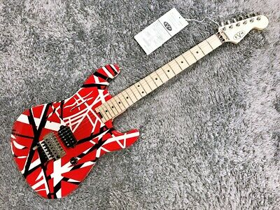 EVH Striped Series Red With Black Stripes 2020 ST Type Electric Guitar, A1237 • 1,450.03£