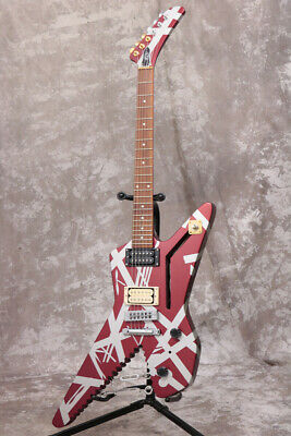 EVH Shark Striped Series Burgundy With Silver Stripes EXP Type, A1239 • 1,771.94£