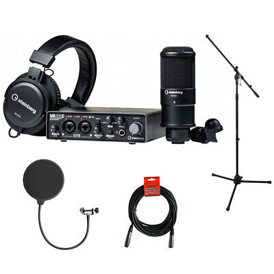 Steinberg UR22C RP Recording Pack W/ Mic Stad, Pop Filter & Cable • 258.67£