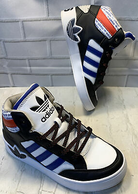 Adidas Kid Youth EVH 791004 Blue Black Red High Top Athletic Shoes Sneakers 2.5Y • 25.14£