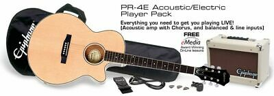Epiphone PR-4E Electro Acoustic Guitar Player Pack - Natural
