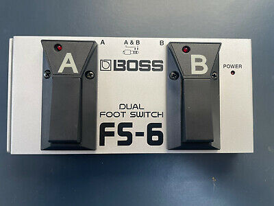 BOSS FS-6 Switchable Momentary/ Latch Dual A/B Footswitch • 20£
