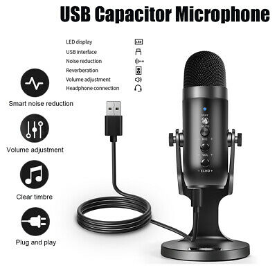 USB Condenser Microphone Noise Reduction Clear Sound Microphone Music Recording • 24.98£