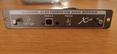 Behringer X-UF 32-Channel USB/Firewire Expansion Card For X32 Digital Mixer  • 99£