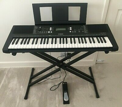 Yamaha PSR E363 Keyboard, Sustain Pedal,Stand, Bench, Headphones Fab Condition • 80£