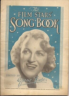 Gracie Fields The Film Stars' Song Book 25 page booklet UK Sheet Music