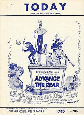 Today - From The Movie Advance To The Rear - 1964 US Sheet Music