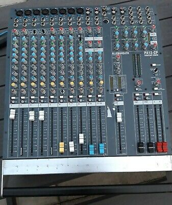 Allen & Heath CP12 Powered Mixing Desk 2 x 500w (some faders are dodgy)