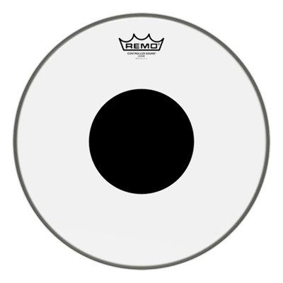 Remo Controlled Sound Bass Drum - Clear Black Dot (CS Dot)