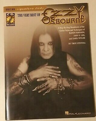 Ozzy Osbourne Best of Guitar Notation and Tabs Book with CD
