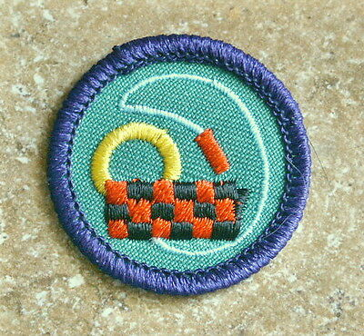 Girl Scouts JUNIOR Badge 1990's TOYMAKER World Of The Arts PURPLE BORDER • 2.29£