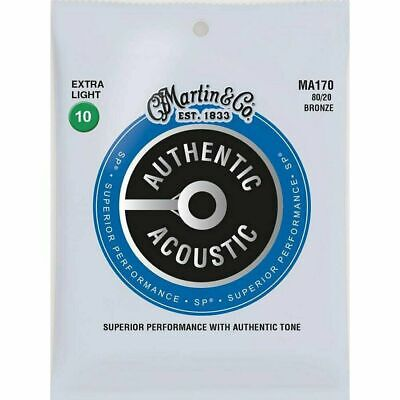Martin Bronze 80/20 Acoustic Guitar Strings10-47 MA170 Delivered by Cadno Music