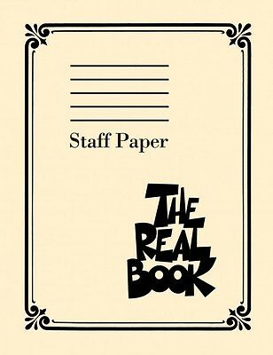 The Real Book Staff Paper - Sheet Music - Book NEW 000240327