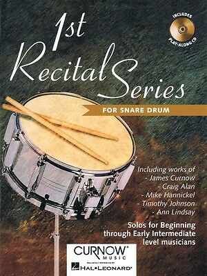 First Recital Series Snare Drum Curnow Play-Along Book NEW 044001613 • 8.71£