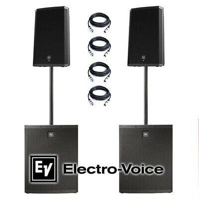 EV Electrovoice Pair ZLX12P ELX118P Active Powered PA System Speakers Subwoofers • 1,999£