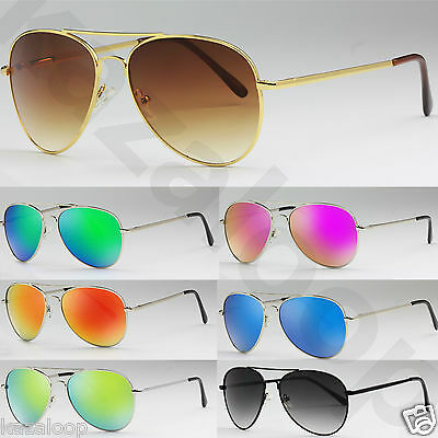 Pilot Metal Frame Sunglasses Spring Hinges UV400 CE Men Women Quality Shades • 4.95£
