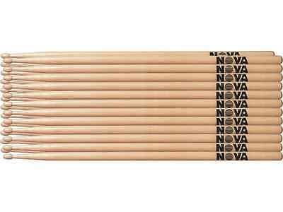1 Brick of 12 Pairs Vic Firth NOVA 5A Drumsticks - WOOD TIP Choice of 3 Colours
