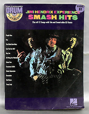 Drum Play-Along: Jimi Hendrix - Smash Hits: Volume 11 By Hal Leonard Corporat... • 8.99£