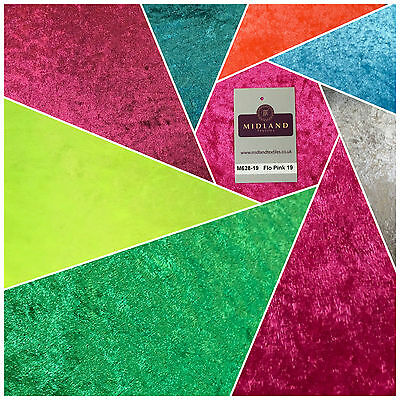 CRUSHED VELVET FABRIC Craft Stretch Velour Material Extra Wide 58  M628 Mtex • 5.99£